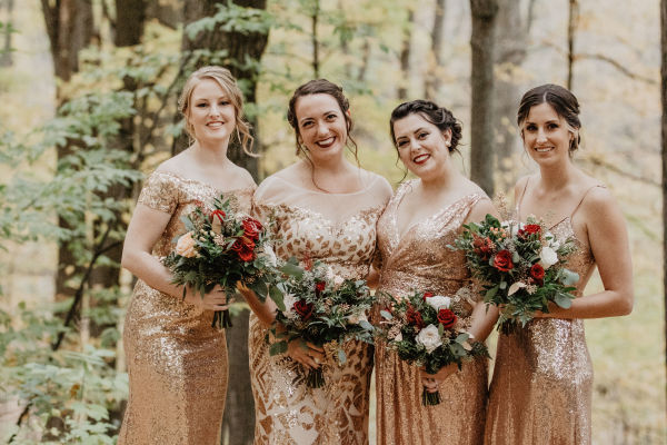 The ladies behind the bride